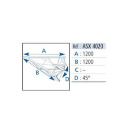 ANGLE ALU 390 2 DEPARTS 45°