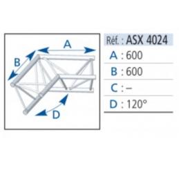 ANGLE ALU 390 2 DEPARTS 120°
