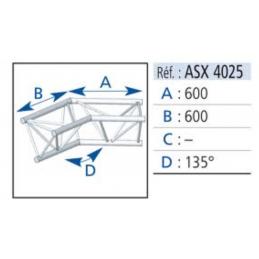 ANGLE ALU 390 2 DEPARTS 135°