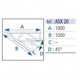 ANGLE ALU 290 2 DEPARTS 45°