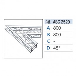 ANGLE 2D 45° SECTION 250...