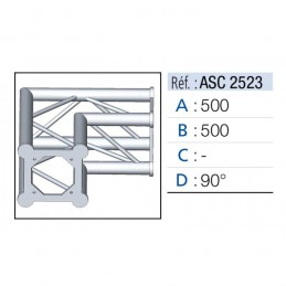 ANGLE 2D 90° SECTION 250...