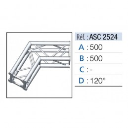 ANGLE 2D 120° SECTION 250...