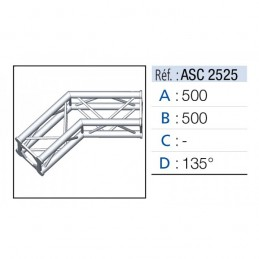 ANGLE 2D 135° SECTION 250...