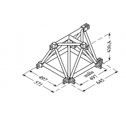 Angle 3D femelle structure...