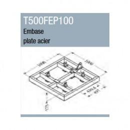 Embase plate acier 1 m x 1...
