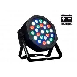 BAT72 AMS PAR LED BATTERIE 24 LEDs RGB de 1W