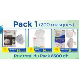 PACK PRO1 DE 200 MASQUES...